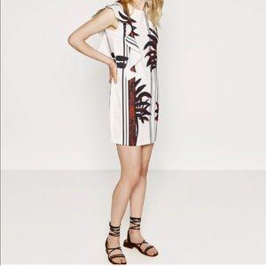 ZARA white bamboo dress